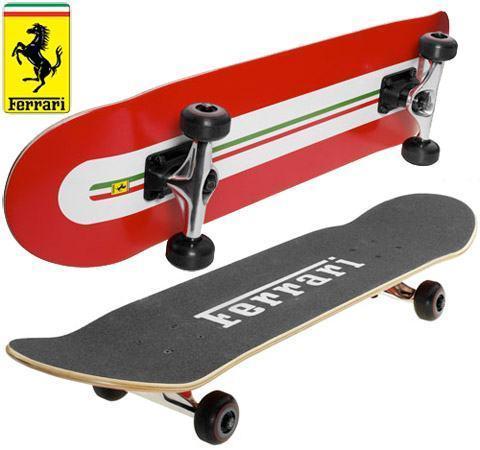 Ferrari Skateboard tem uma prancha de 7 camadas de madeira tipo