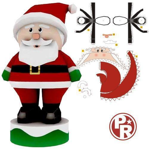 Papercraft Santa Pictures to pin on Pinterest