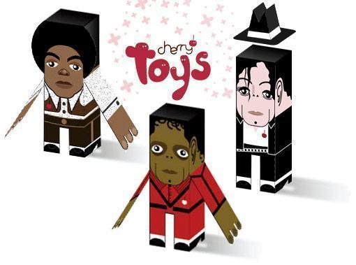 Michael-Jackson-Paper-Toys