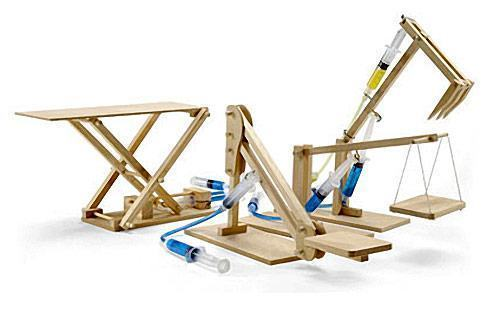 Wooden-Hydraulic-Machines-Set
