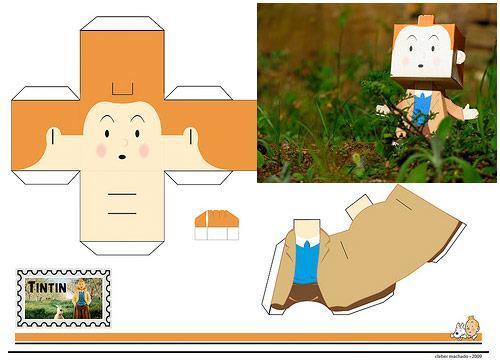 Tintin-Paper-Toy