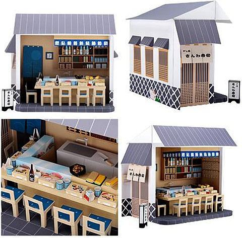 Sushi-Bar-Papercraft
