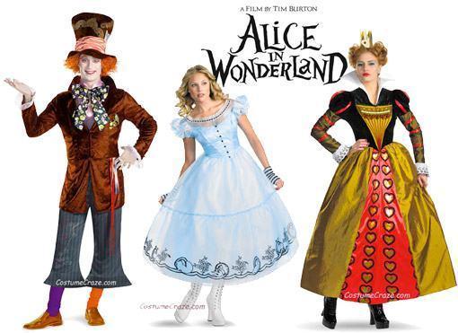 Fantasias de Alice no País das Maravilhas de Tim Burton