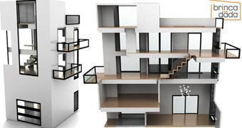 Casa de Bonecas Inspirada na Arquitetura de Gerrit Rietveld