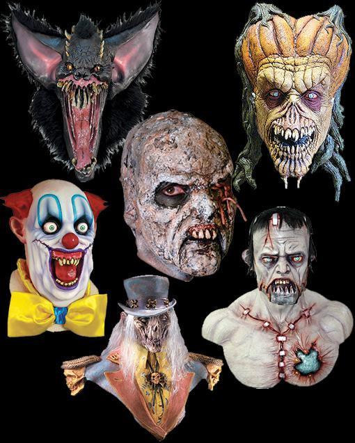 ... seleção de máscaras de horror e destacamos aqui as mais medonhas