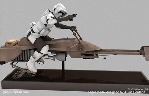 Star wars de papel 74 z speeder bike e scout trooper 171 blog de