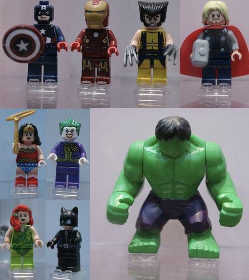 Lego super heroes a nova série de sets lego dc e marvel sdcc 2011