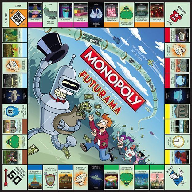 Monopolio-Futurama-Tabuleiro