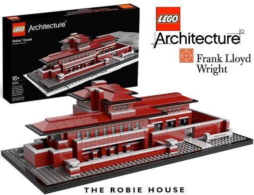 lego architecture: robie house do arquiteto frank lloyd wright