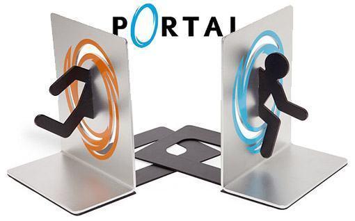 Portal bookends apoio de livros do famoso game blog de brinquedo - Portal bookend ...