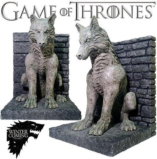 Mikeliveira 39 s space direwolf bookends game of thrones - Dire wolf bookends ...