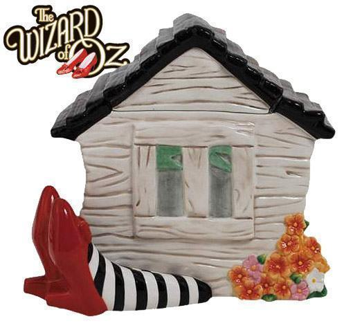 Wizard-of-Oz-House-on-Legs-Cookie-Jar-Pote-de-Cookies