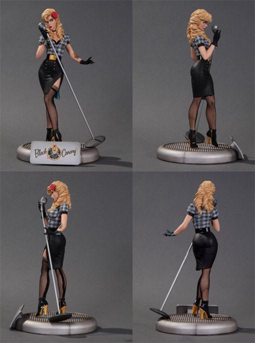 Black-Canary-Bombshell-Statue-02