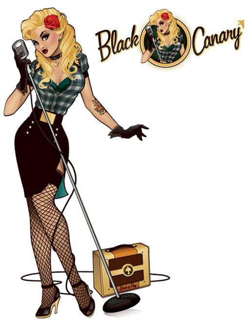 Black-Canary-Bombshell-Statue-03