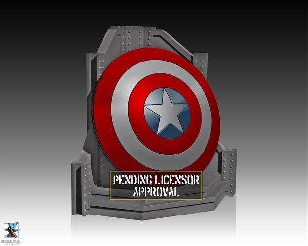 Captain-America-Shield-Bookend-Apoio-de-Livros