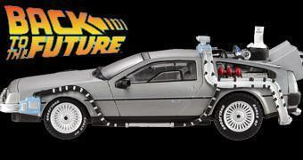 DeLorean com Mr. Fusion – Die-Cast Hot Wheels Elite Cult Classic