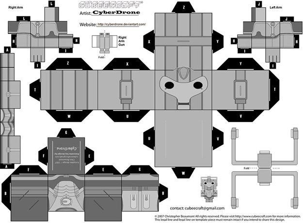 Doctor-Who-Cyberdrone-Papercraft-Papel-04