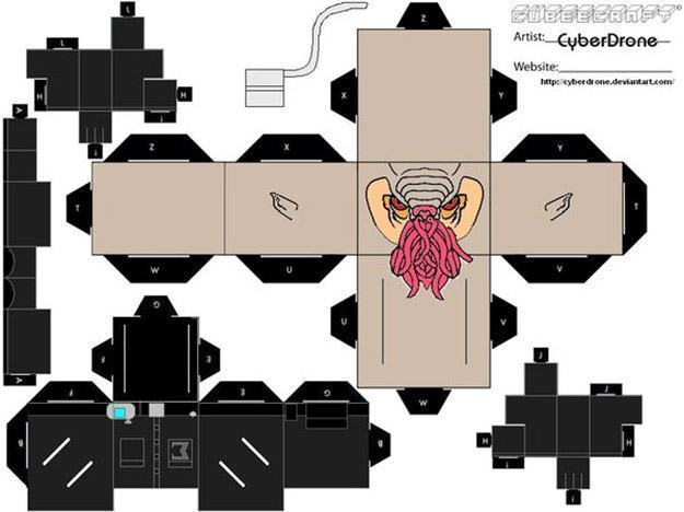 Doctor-Who-Cyberdrone-Papercraft-Papel-05