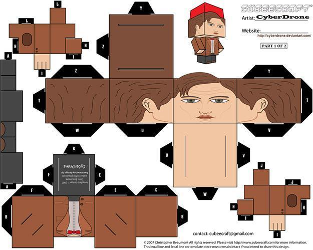 Doctor-Who-Cyberdrone-Papercraft-Papel-11
