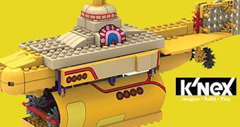 Kit K'NEX Beatles Yellow Submarine no Estilo LEGO
