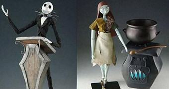 Nightmare Before Christmas Active Label – Figuras de Luxo do Estranho Mundo de Jack