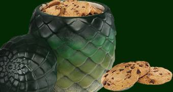 Pote de Cookies Game of Thrones: Ovo do Dragão Rhaegal