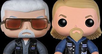 Bonecos Pop! Sons Of Anarchy: Jax, Clay, Gemma e Opie