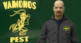 Action Figure Breaking Bad: Walter White com Macacão Vamonos Pest