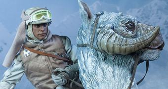Luke Skywalker e Tauntaun em Hoth – Action Figures Perfeitas Sideshow Star Wars