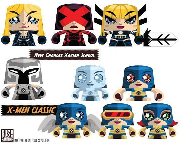 Bonecos-Papel-Minipapercraft-X-Men-01