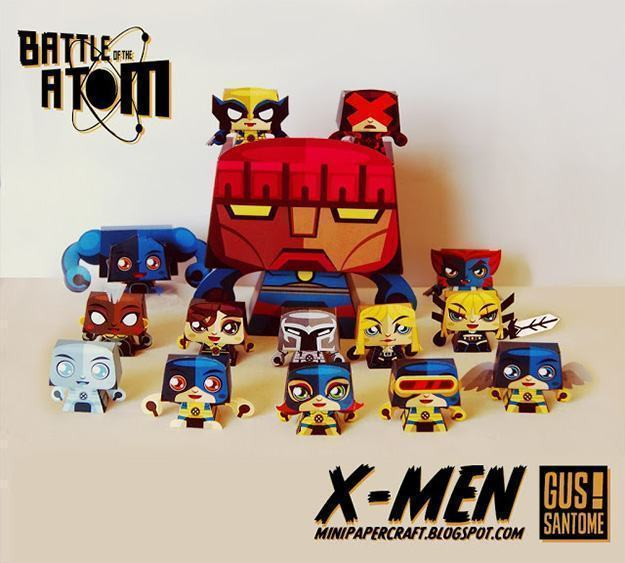 Bonecos-Papel-Minipapercraft-X-Men-02