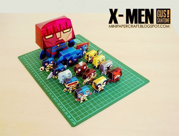 Bonecos-Papel-Minipapercraft-X-Men-03