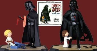 Maquetes Star Wars dos Livros: Vader's Little Princess e Darth Vader and Son