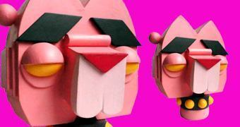 Pantera Cor de Rosa Toy Art Super Estilizada