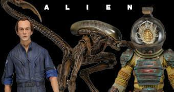 "Action Figures Alien 7"" Série 3: Kane, Bishop e Dog Alien"