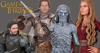 Figuras Dark Horse Game of Thrones: Cersei, Jaime, Arya, Robb e White Walker