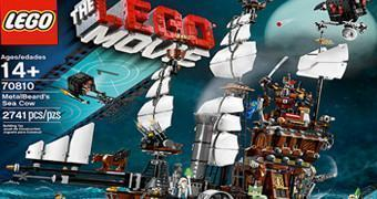 Navio Pirata LEGO Movie MetalBeard's Sea Cow – O Navio do Capitão Barba de Ferro com 2.741 Peças