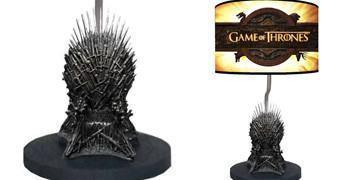 Luminária Game of Thrones Iron Throne com Miniatura do Trono de Ferro!