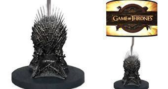 Luminária Game of Thrones Iron Throne com Miniatura do Trono de Ferro!