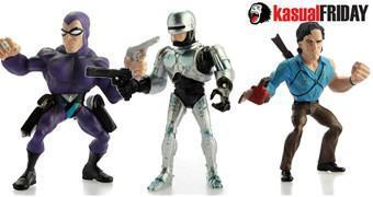 Mini-Figuras Estilizadas Movie Superstars Series 01: Ash, Phantom e Robocop