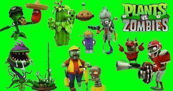 Bonecos do Game Plants vs. Zombies: Garden Warfare Select