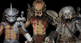 "Action Figures 7"" Predator Série 12: Bad Blood Predator, Enforcer Predator e Elder Predator"