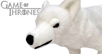 Game of Thrones de Pelúcia: Lobo Gigante Fantasma (Ghost)