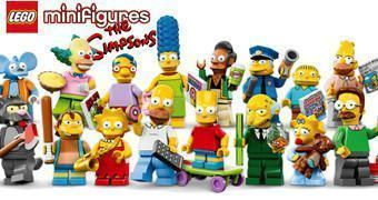 Os Simpsons na Décima Terceira Série de Mini-Figuras LEGO Blind Box