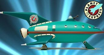Modelo Perfeito do Planet Express Ship de Futurama