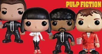 Bonecos Pop! Pulp Fiction Série 2: Vincent Vega, Jules Winnifield, Mia Wallace e Jimmie Dimmick