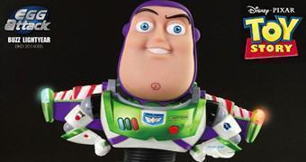 Estátuas Toy Story: Buzz Lightyear Egg Attack com LEDs