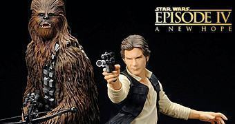 Han Solo & Chewbacca A New Hope ArtFX+