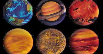 Jogo de Pratos com os 8 Planetas do Sistema Solar