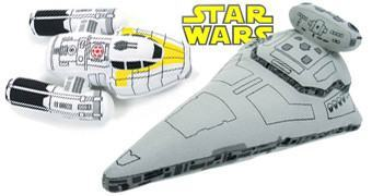 Naves de Pelúcia Star Wars: Y-Wing Bomber e Star Destroyer